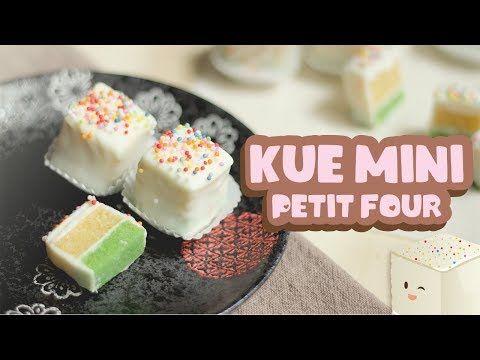 Kue Mini Mini Cakes Petit Four Valentine Recipe Youtube Resep Makanan Petit Fours Ide Makanan