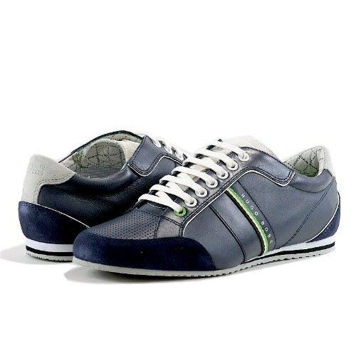 hugo boss men 39 s fashion sneakers victoire la dark blue. Black Bedroom Furniture Sets. Home Design Ideas