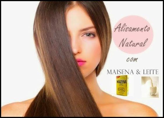 Alisando os cabelos com leite e maizena_Fórmula extra forte - Receitas e Dicas Rápidas