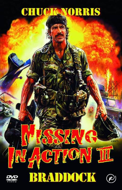 Canvas Print Chuck Norris In  - missing in action poster