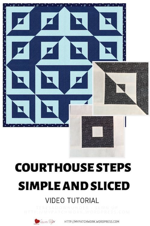 Courthouse Steps Quilt Pattern : courthouse, steps, quilt, pattern, Courthouse, Steps, Sliced, Quilt, Blocks, Blocks,, Optical, Illusion, Quilts,, Block, Tutorial