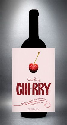 2009 Sparkling Cherry-My fav wine from 45 North Winery (Click on the link to order more when I run out!)