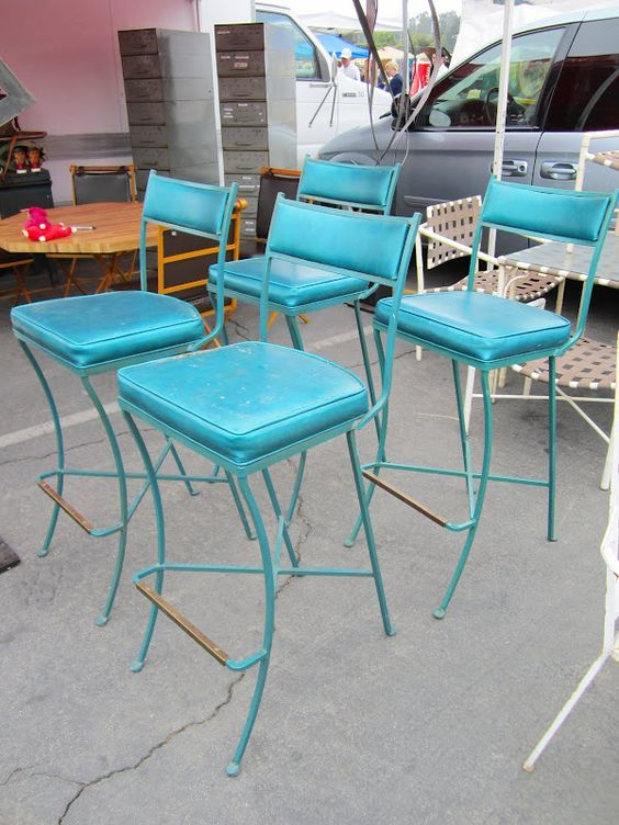 Bar stools stools and teal on pinterest - Teal blue bar stools ...
