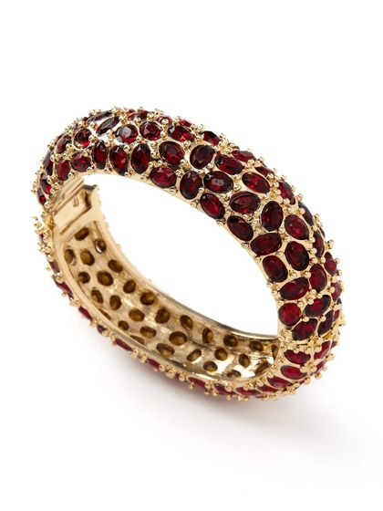 Love this red crystal bracelet by K. J. Lane