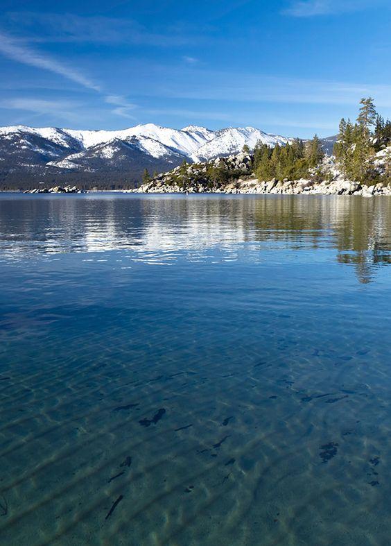 Lake Tahoe Winter Wallpaper Desktop Background: Winter At Lake Tahoe