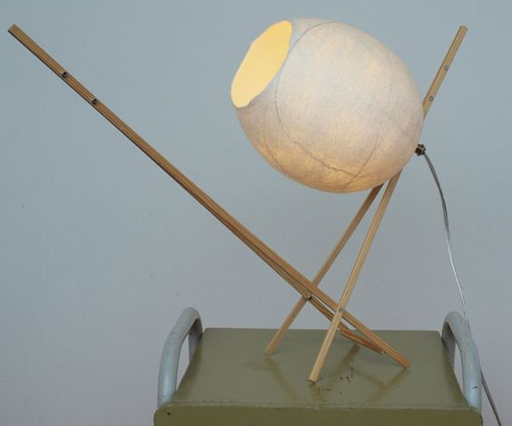 The felt lampshades are made from 100% wool from the Leicester sheep from England.