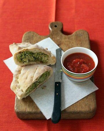 Broccoli Calzones: Freezer Meals, Broccoli Calzones, Vegetarian Recipe, Martha Stewart, Comfort Food, Calzones Recipe