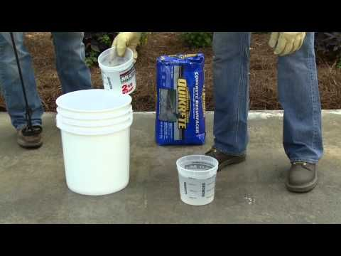 How to Use Quikrete Concrete Resurfacer - The Home Depot - YouTube