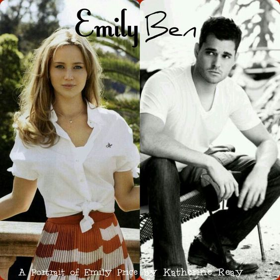 "How I envisioned Emily and Ben when I read ""A Portrait of Emily Price""!:"