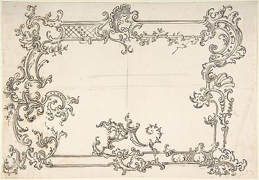 Rococo 18th century and anonymous on pinterest for Rococo style frame