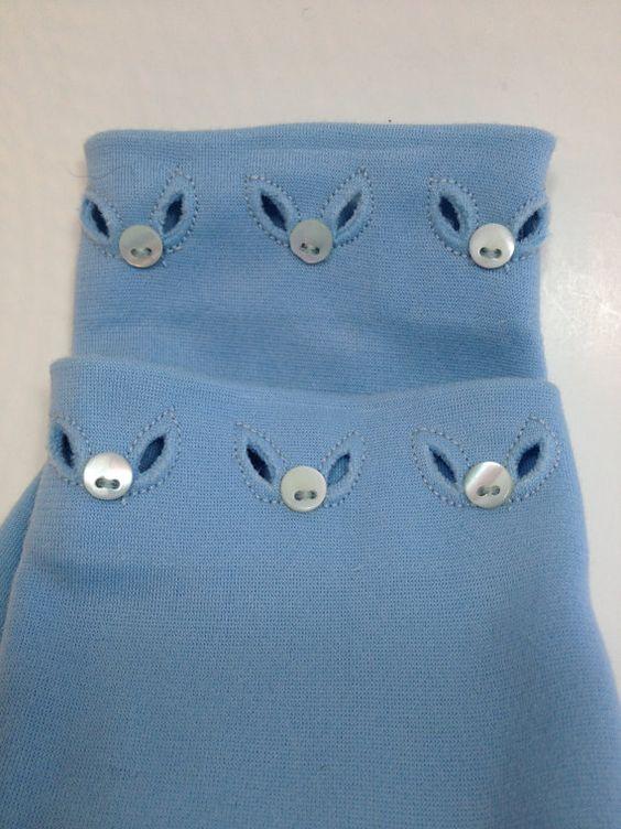 Vintage blue dressy ladies gloves on Etsy, $14.00