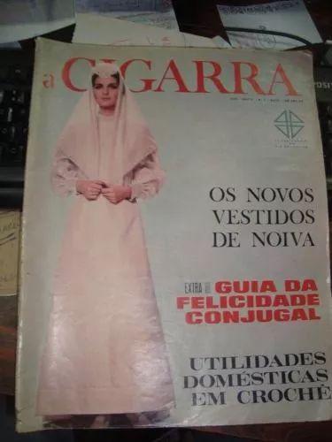 1965 revista antiga a cigarra 05 ano 1965 vestidos noivas crochê