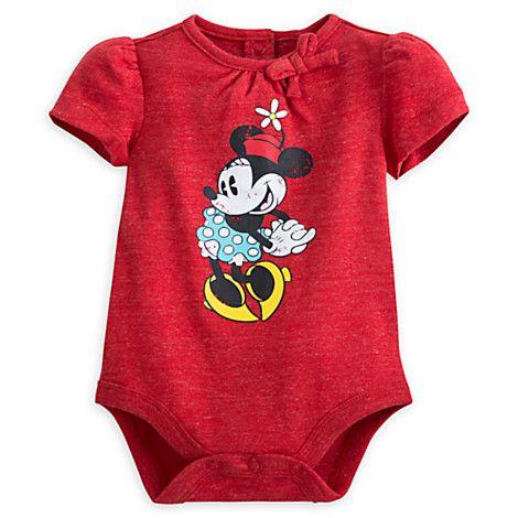 Minnie Mouse Vintage Disney Cuddly Bodysuit for Baby   Disney Store