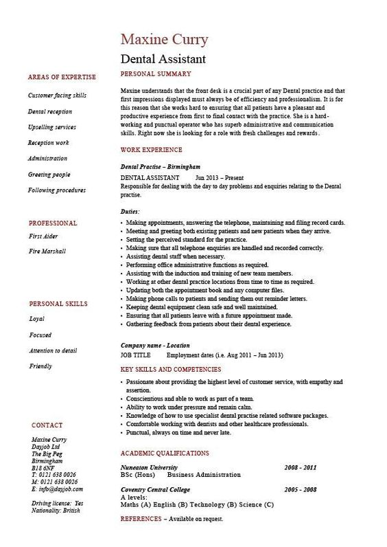The 25+ best Dental assistant job description ideas on Pinterest - research assistant resume sample