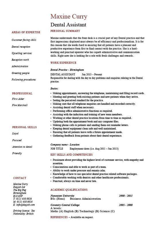 dental assisting job description