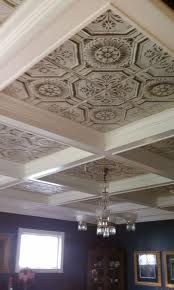 Tin Ceiling Tile Whitewashed Silver Master Bedroom