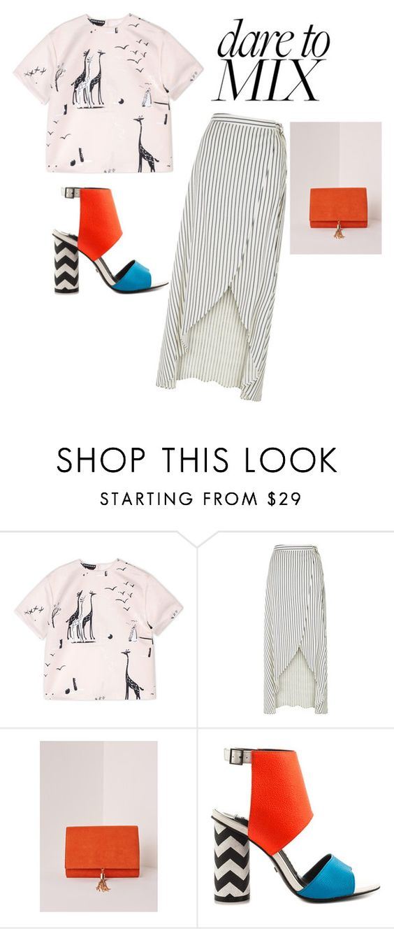 """mix it up"" by labellavita6two ❤ liked on Polyvore featuring Rochas, New Look, Missguided, Kat Maconie and patternmixing"