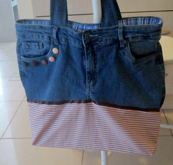 Bolsa jeans Constantina Atelier