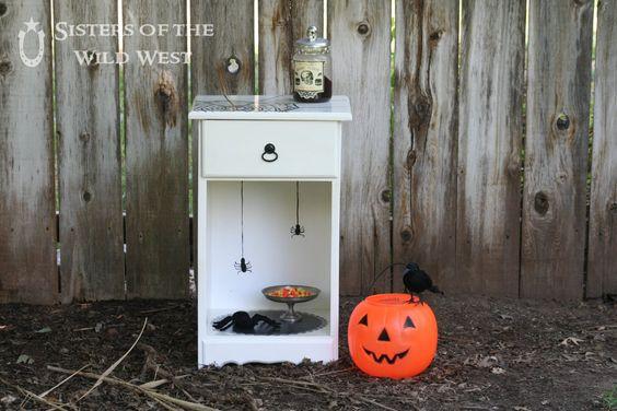Sisters of the Wild West: Halloween Spider Nightstand