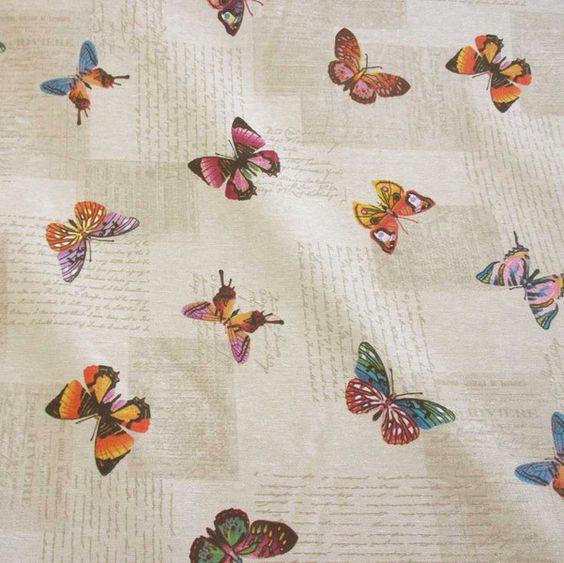 Weiteres - Stoff pflegeleicht Schmetterlinge Handschrift - ein Designerstück von werthers-stoffe bei DaWanda