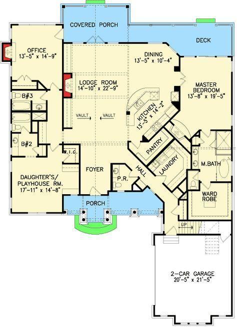 Plan 15897ge Shake Stone And Timber Dream Home Plan Dream House Plans House Plans Floor Plans
