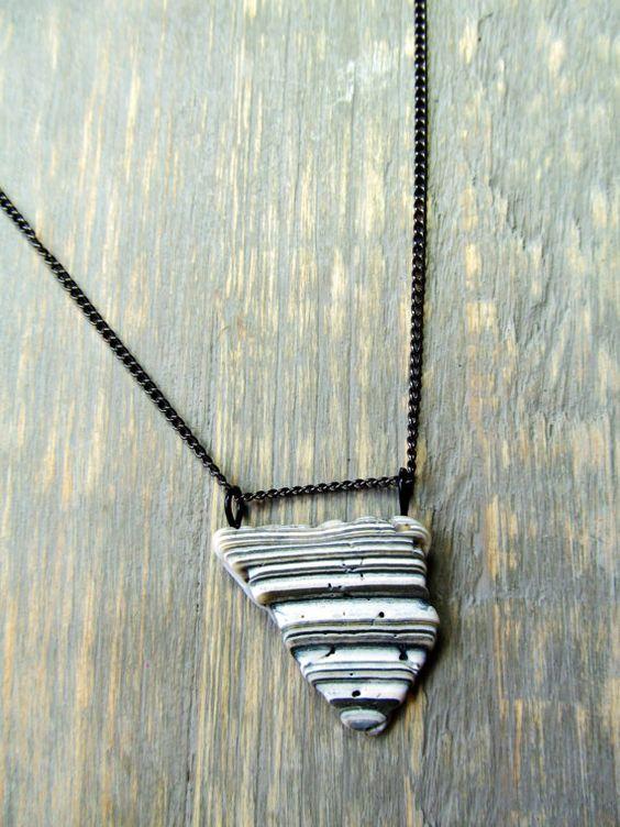 Seashell Jewelry: Striped Broken Seashell by SeafarerJewelry
