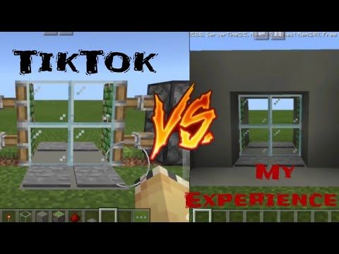 Tiktok Videos Vs My Experience Minecraft Edition Youtube In 2020 Minecraft Videos Small Room Bedroom
