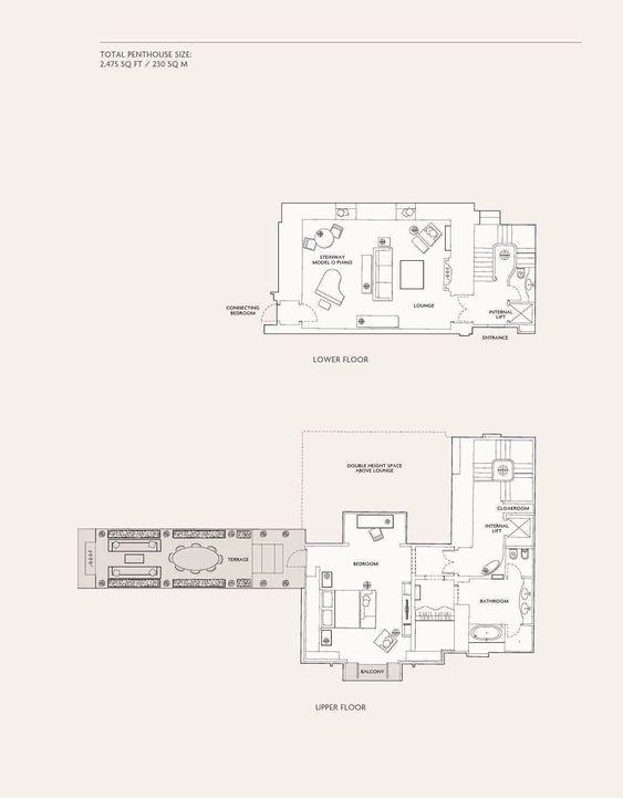 The Musician S Penthouse Penthouse Corinthia Hotel House Floor Plans