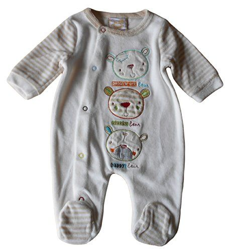 Newborn nb months - Baby Boys Sleepsuit Babygrow - Gorgeous Velour Cream Light Brown Bears / Babies Clothes Rockabye-Baby http://www.amazon.co.uk/dp/B00KSLB8X4/ref=cm_sw_r_pi_dp_KjH9tb06J2298