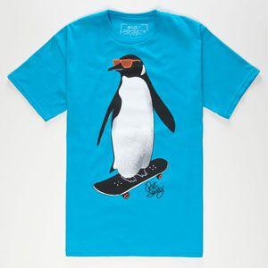 RIOT SOCIETY Skate Penguin Boys T-Shirt