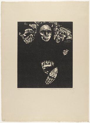 Käthe Kollwitz (German, 1867–1945)  The People (Das Volk) (plate 7) from War (Krieg)  Date:(1922, published 1923)Medium:Woodcut from a portfolio of seven woodcuts and one woodcut cover: