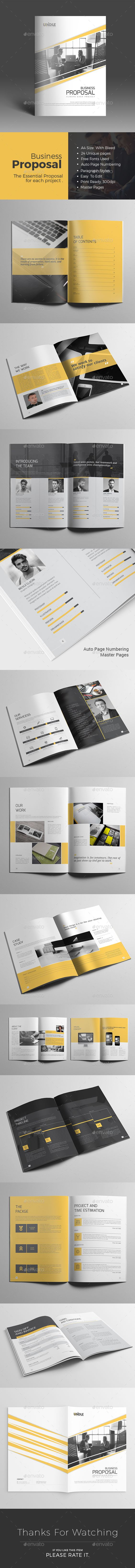 Business Proposal 24 Pages Template InDesign INDD #design Download: http://graphicriver.net/item/business-proposal/14278428?ref=ksioks