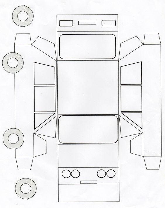 Auto 3d Model Basteln Mit Papier Vorlagen Papier Handwerk Auto Basteln