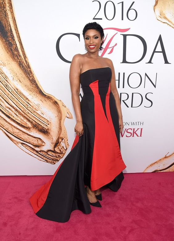 Pin for Later: The Fashion Crowd Goes All Out For the CFDA Awards Red Carpet Jennifer Hudson Wearing Prabal Gurung.