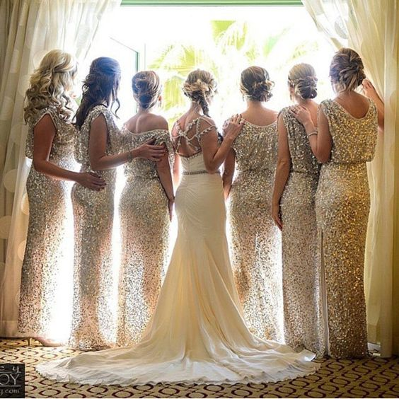 Sequin Bridesmaid Dresses | Glitter Bridesmaid Dresses | Bridesmaid Dresses | Hayley Paige Wedding Dress | Corey Conroy Photography | The Coordinated Bride Wedding Blog | @thecoordinatedbride Instagram photos