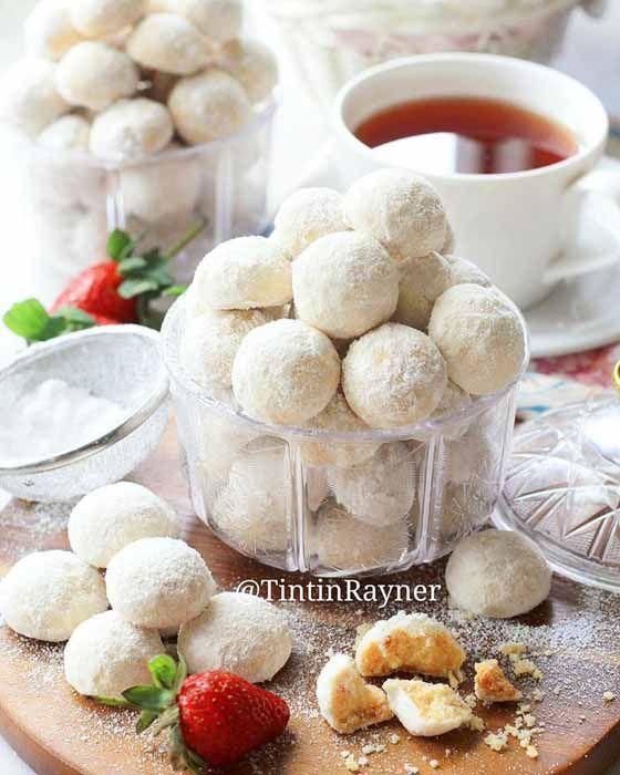 Resep Membuat Kue Putri Salju Keju Lumer Renyah Dan Dingin