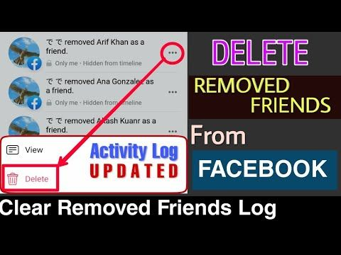 How To Delete Removed Friends From Activity Log On Facebook Updated Trick Youtube In 2020 Facebook Updates How To Remove Activities