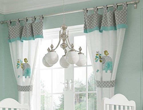 Green Curtains amazon green curtains : Baby Bedding Design Green Elephant 2 Curtains: Amazon.co.uk: Baby ...
