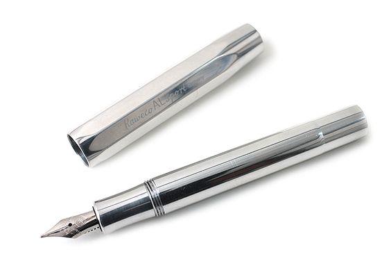 Kaweco AL Sport Fountain Pen - Fine Nib - Glossy Silver Body - KAWECO 10000628