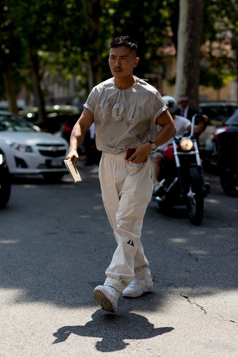 ハイカットスニーカー海外メンズコーデMilan Men's Fashion Week SS18
