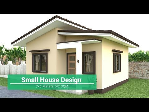 Small House Design 7x6 Meters Youtube Small House Design Exterior Small House Design Village House Design