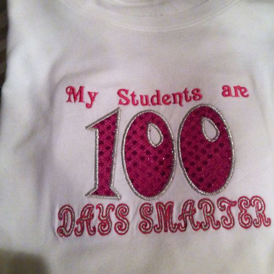 100 Days of School - Teacher and Para t-shirts. It is so fun to see how the different color combinations turn out! ~Corrine