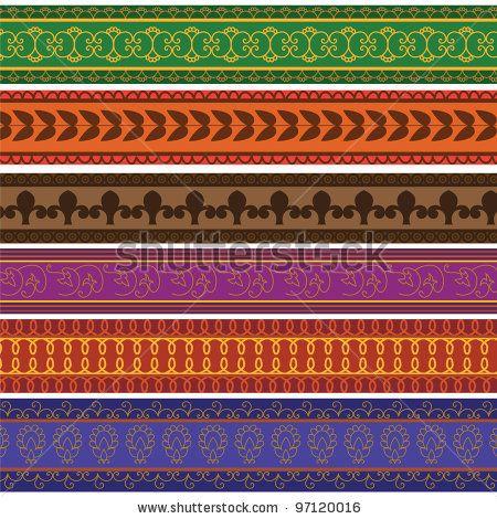 henna inspired banners borders - photo #6