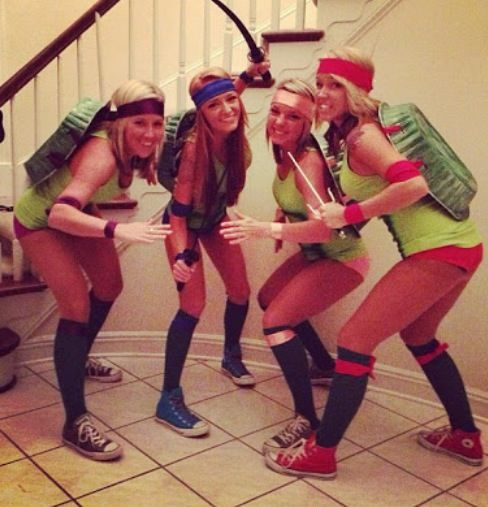 diy ninja turtle group costume halloween - Group Diy Halloween Costumes