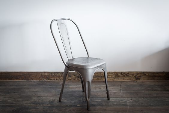 Tolix chair silver