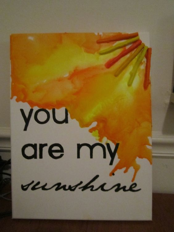 Melted crayon crafts melted crayons and crayons on pinterest for Melted crayon art with quotes