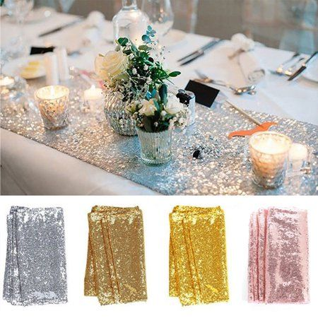 Cuh Sequin Table Runners 12 X 118 Sparkly Tablecloth Wedding Birthday Christmas Banquet De Gold Sequin Table Runner Gold Table Runners Sequin Table Runner