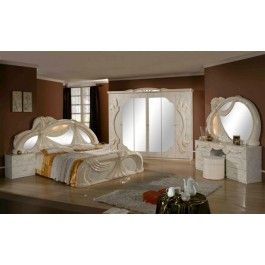 VIG Furniture Gina - Made In Italy White 5 Pieces Bedroom Set VGACCGINA-BEIGE