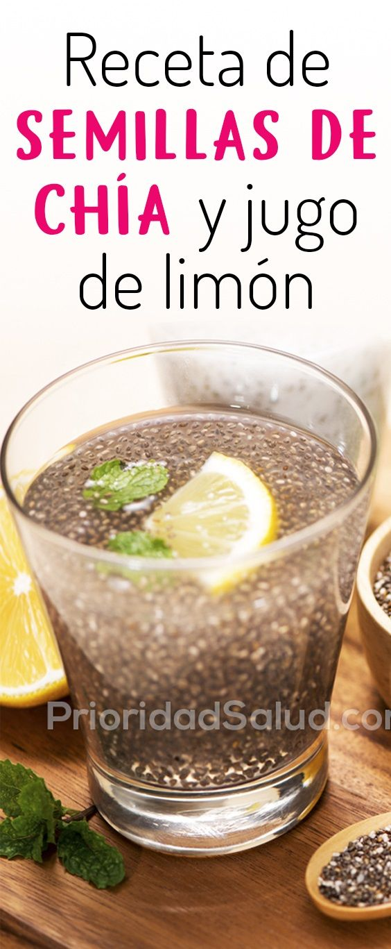 Chia con limon para adelgazar