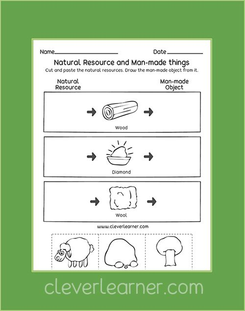 Free Kids Worksheets On Natural Resources Firstgrade Homeschool Earth Nature Http Natural Resources Lesson Natural Resources Natural Resources Activities